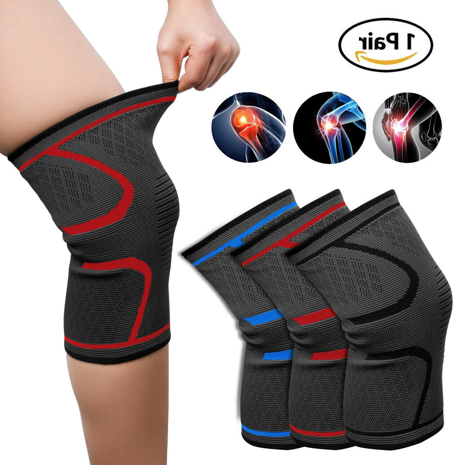 knee brace sleeve compression support for sports