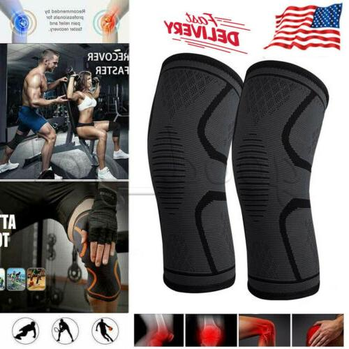 2x knee sleeve compression brace support sports