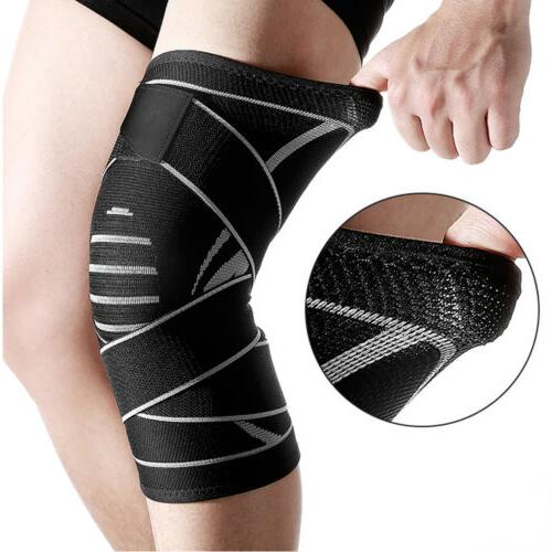 weaving knee sleeve brace pad support stabilizer