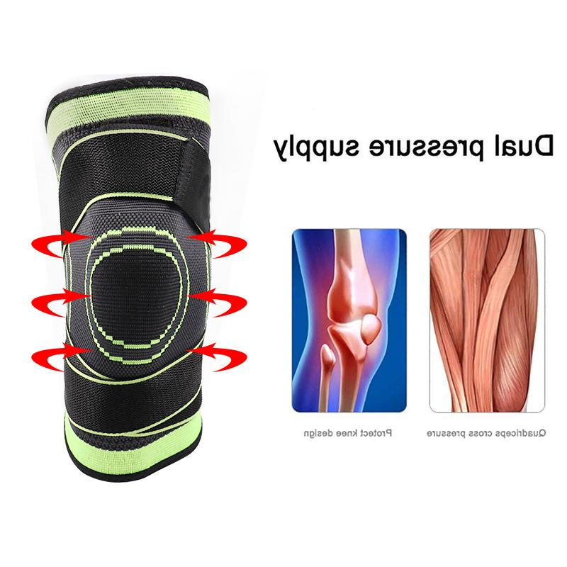 3D Knitted Pads Supports Basketball Meniscus Patella Sports Safety Kneepads
