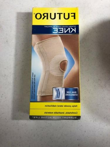 Futuro 46163 KNEE SUPPORT Brace, Dual Side Stabilizers, SMAL