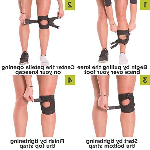 BraceAbility Patellar Short Knee Exercise Sleeve Stabilizer Kneecap Patellofemoral Pain LCL Injuries