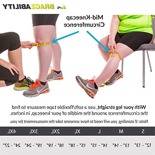 Knee   Exercise & Basketball Sleeve Stabilizer Post Kneecap Dislocation, Patellofemoral Pain LCL