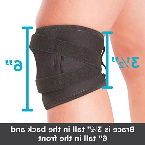 BraceAbility Tracking Short Knee Brace Running, Exercise Support Kneecap Dislocation, Pain MCL LCL Injuries