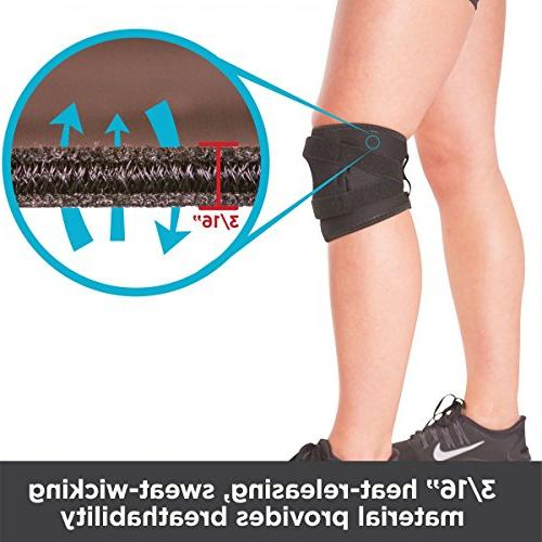 Knee | Exercise Basketball Sleeve Stabilizer Post Kneecap Dislocation, Patellofemoral Pain & LCL