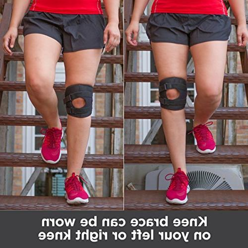 BraceAbility Patellar Tracking Exercise & Basketball Sleeve Stabilizer for Post Kneecap Tendonitis, Pain & MCL / LCL Injuries