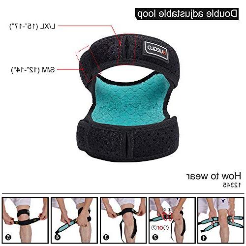 Dual for Knee Neoprene for Tennis,Injury Recovery,Protection,Black,12'' -