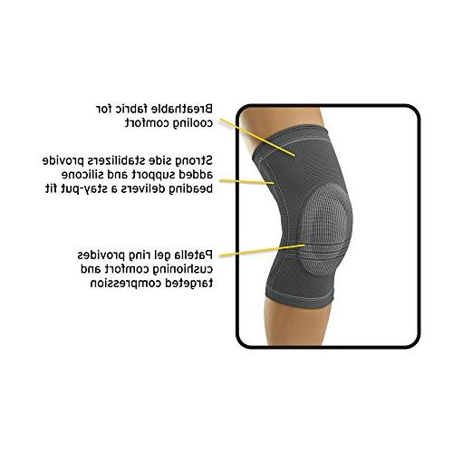 Futuro Knit Stabilizer, Stabilizing Support, Large, Gray