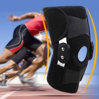 adjustable black neoprene hinged open knee patella