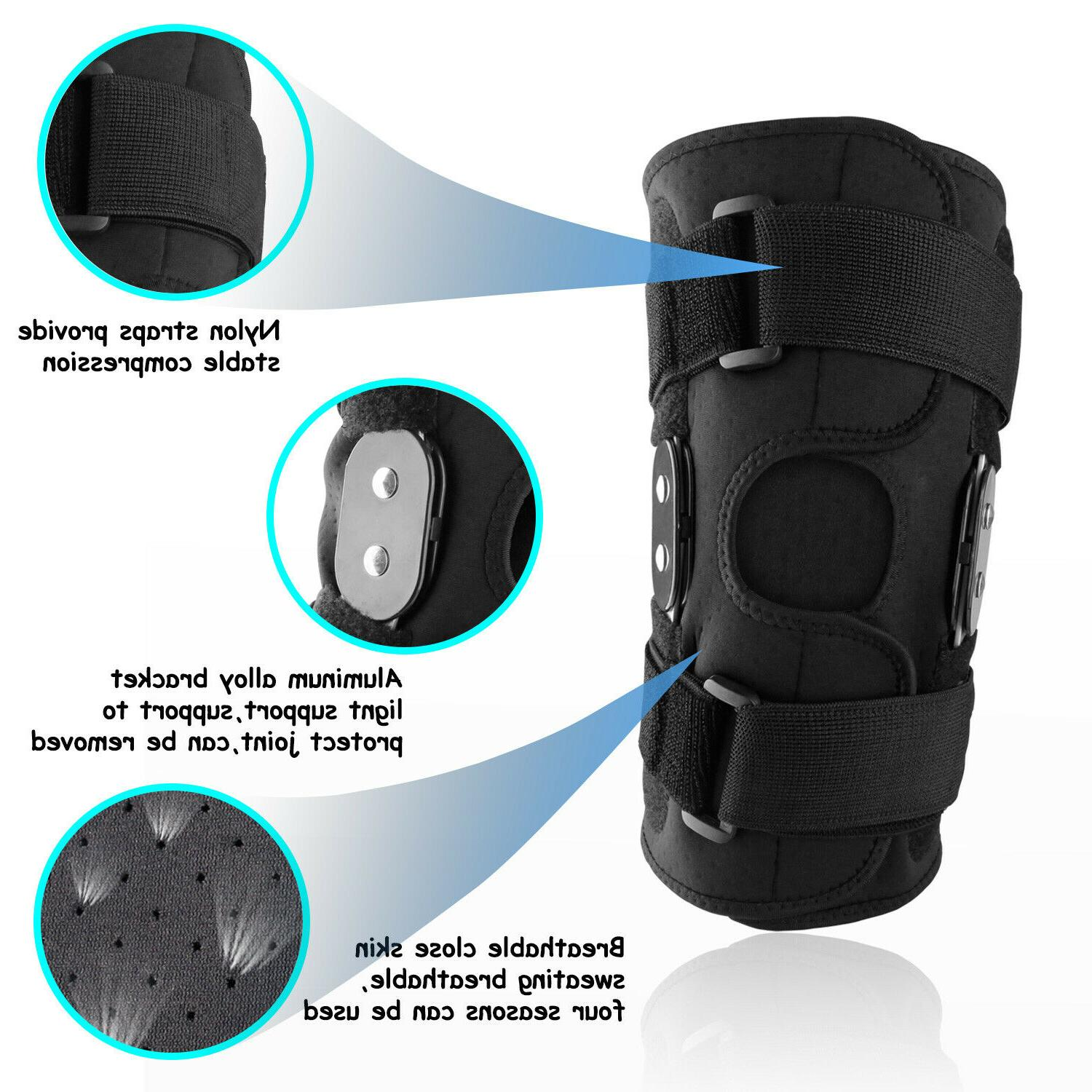 Knee Brace Hinged Sleeve Patella Stabilizer