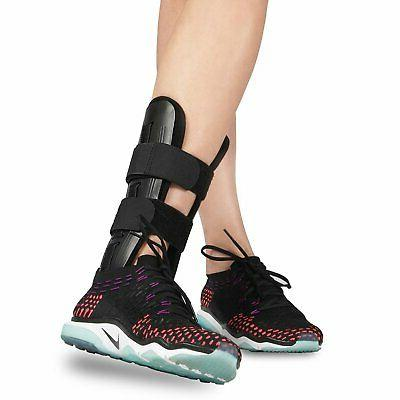 ankle brace with adjustable stabilizer and latex