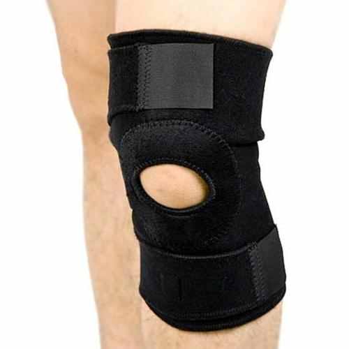 black neoprene adjustable open knee patella tendon