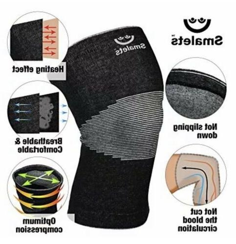 Smalets Brace Compression Support Sleeves Black
