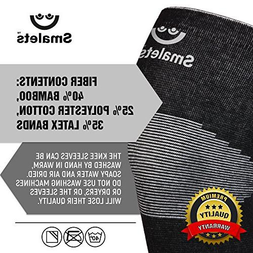 Smalets Brace Support Sleeves Joint Protection for Cross Weightlifting, Running Black,