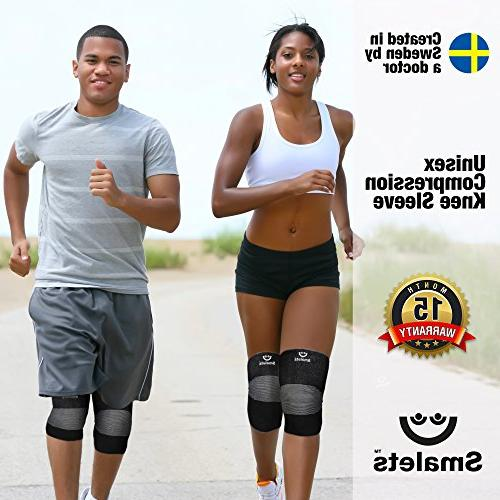 Smalets Brace Knee Support –Powerful Protection Cross Weightlifting, More Black, XL