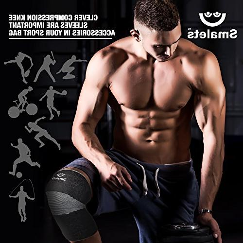 Smalets Brace Compression Support Sleeves Protection for Weightlifting,