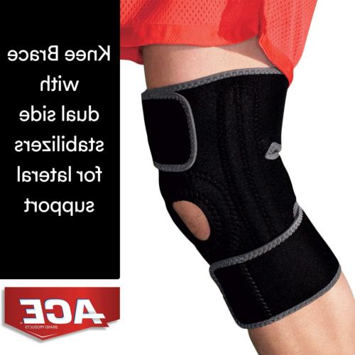 Brand Knee Brace with Dual Side Stabilizers, Americas Most T