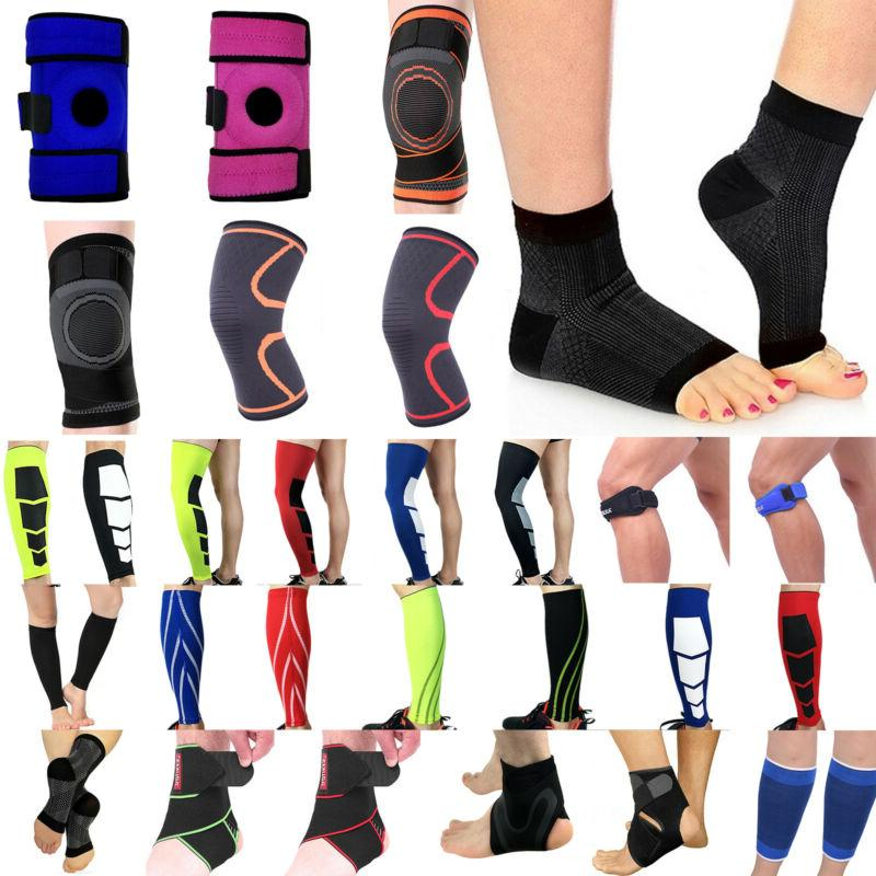 calf leg compression sleeves brace knee ankle