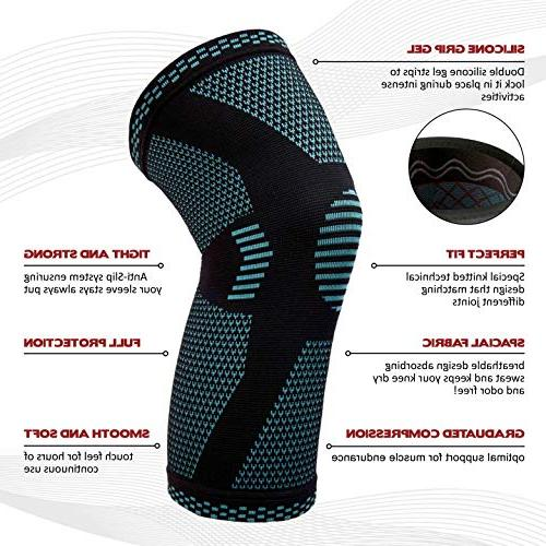PowerLix Compression Knee - Best for Arthritis, Quick – Knee For Running, CrossFit, Sports, XL