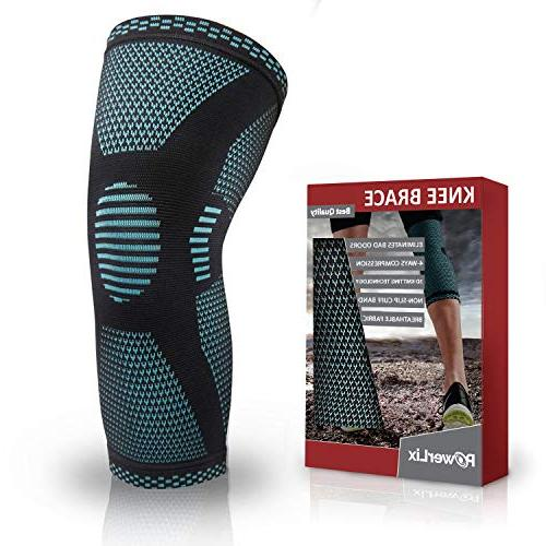 PowerLix Knee Sleeve - for Tear, Quick Recovery Knee For CrossFit, and
