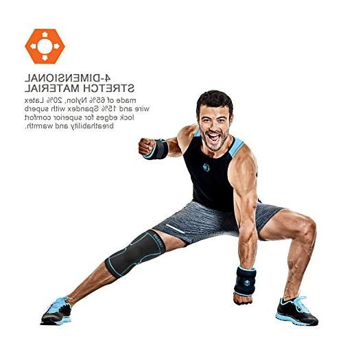 CAMBIVO Sleeve, Athletics for Tear, Running, Joint Pain Relief, and Recovery - Single Wrap