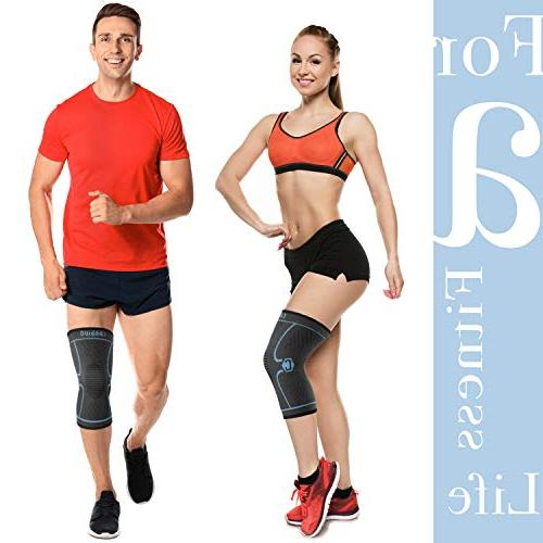 CAMBIVO Knee Sleeve, Athletics for Meniscus Tear, ACL, Running, Joint Relief, and Recovery - Single