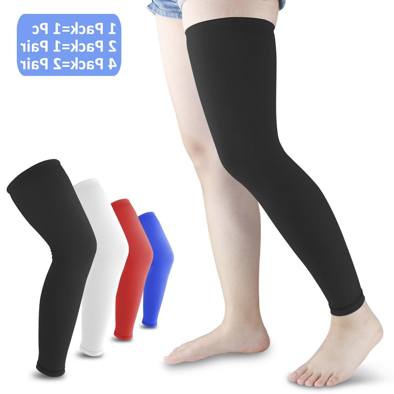 Compression Sleeve Support Leg Knee Socks Sport Women