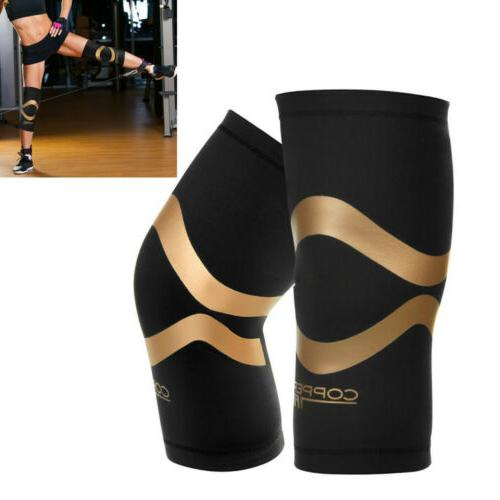 Copper fit New Performance Compression Knee Sleeve Sport Bra