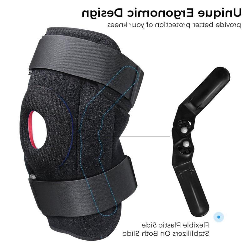 Double Hinged Knee Brace Open Support Stabilizer Medical Wraps