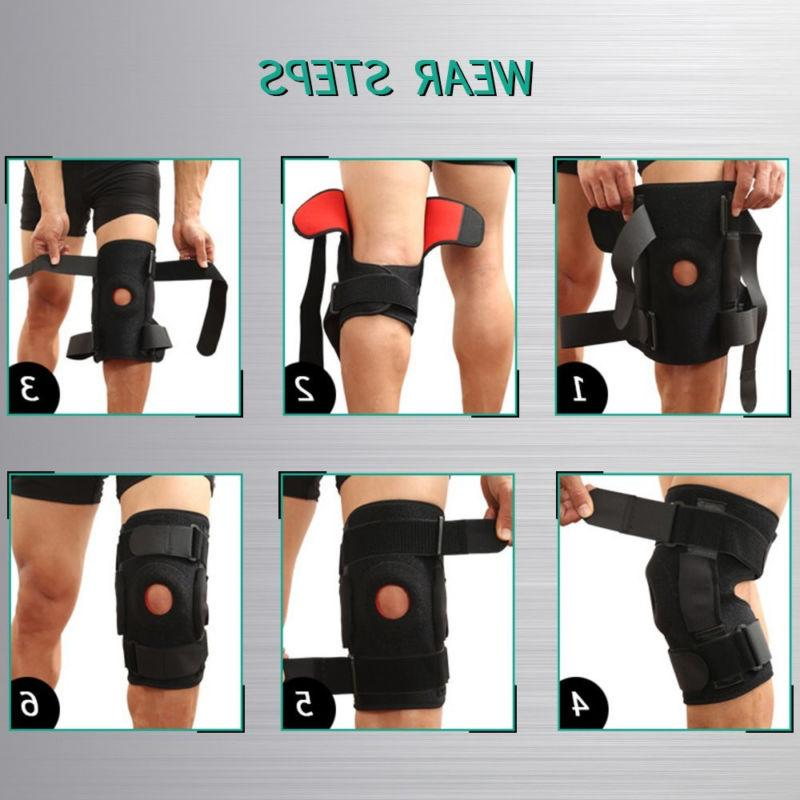 Double Hinged Brace Open Patella Stabilizer Medical