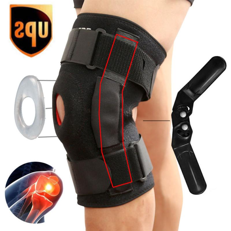 double hinged knee brace open patella support