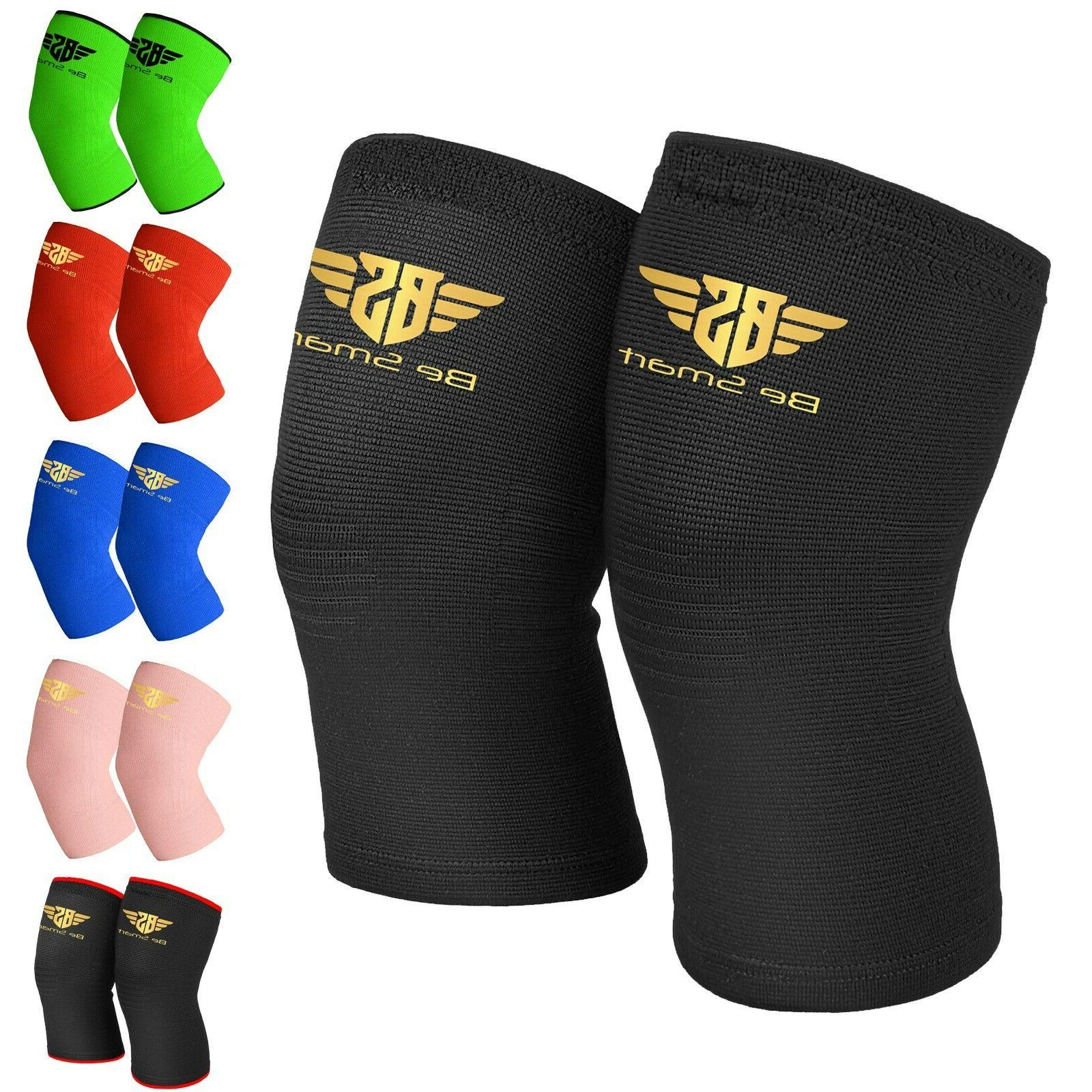 elastic knee sleeve support brace for joint