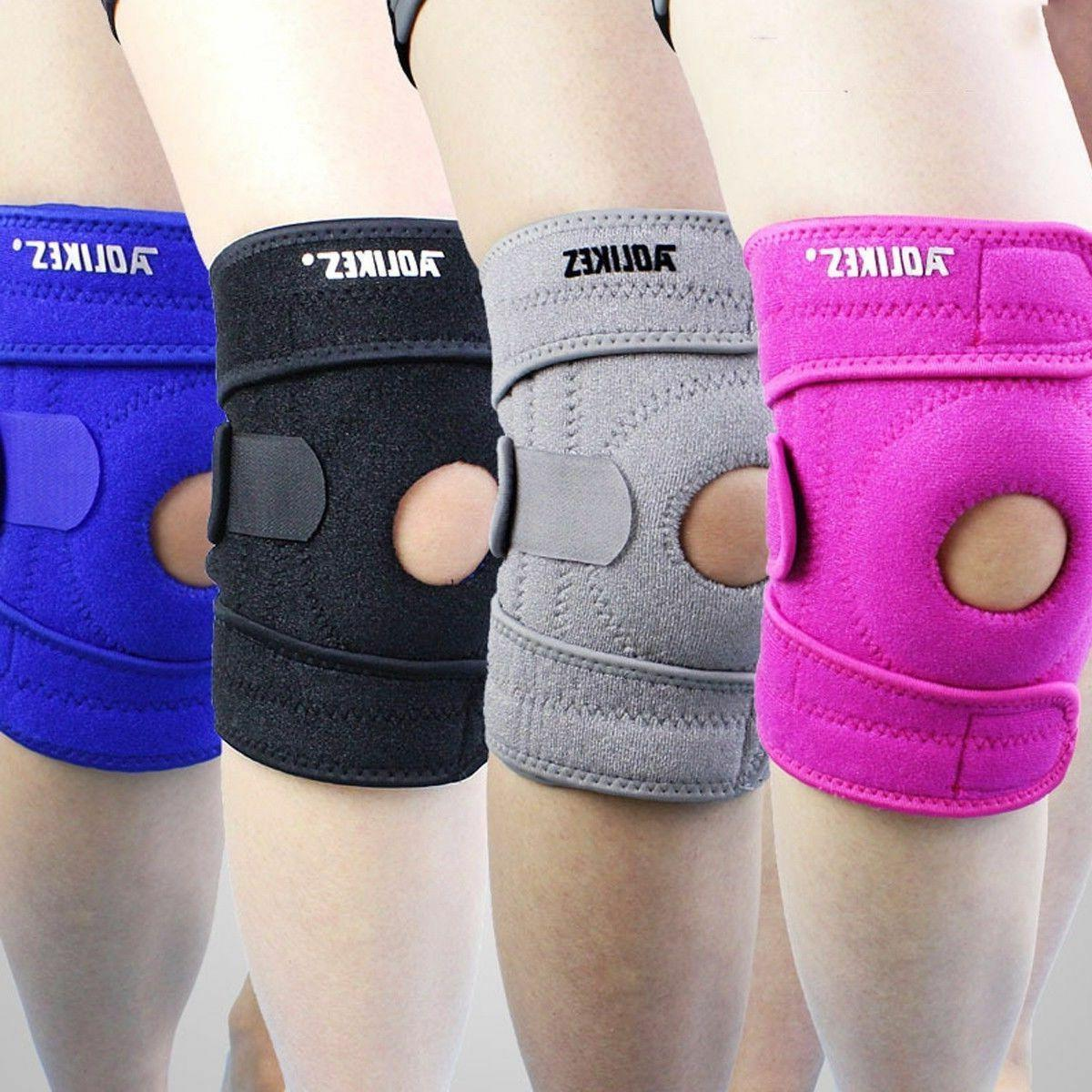 exercise sport knee wrap support skate compression