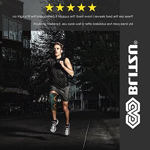 Blitzu Plus Knee for Joint Pain, MCL and Improve Running, Gym Best Patella Pad M