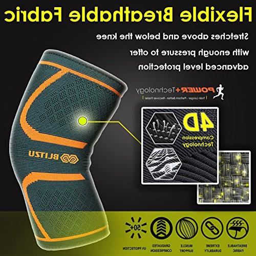 Blitzu Knee for Pain, MCL and Arthritis Improve Running, Gym Best Sleeves Pad M