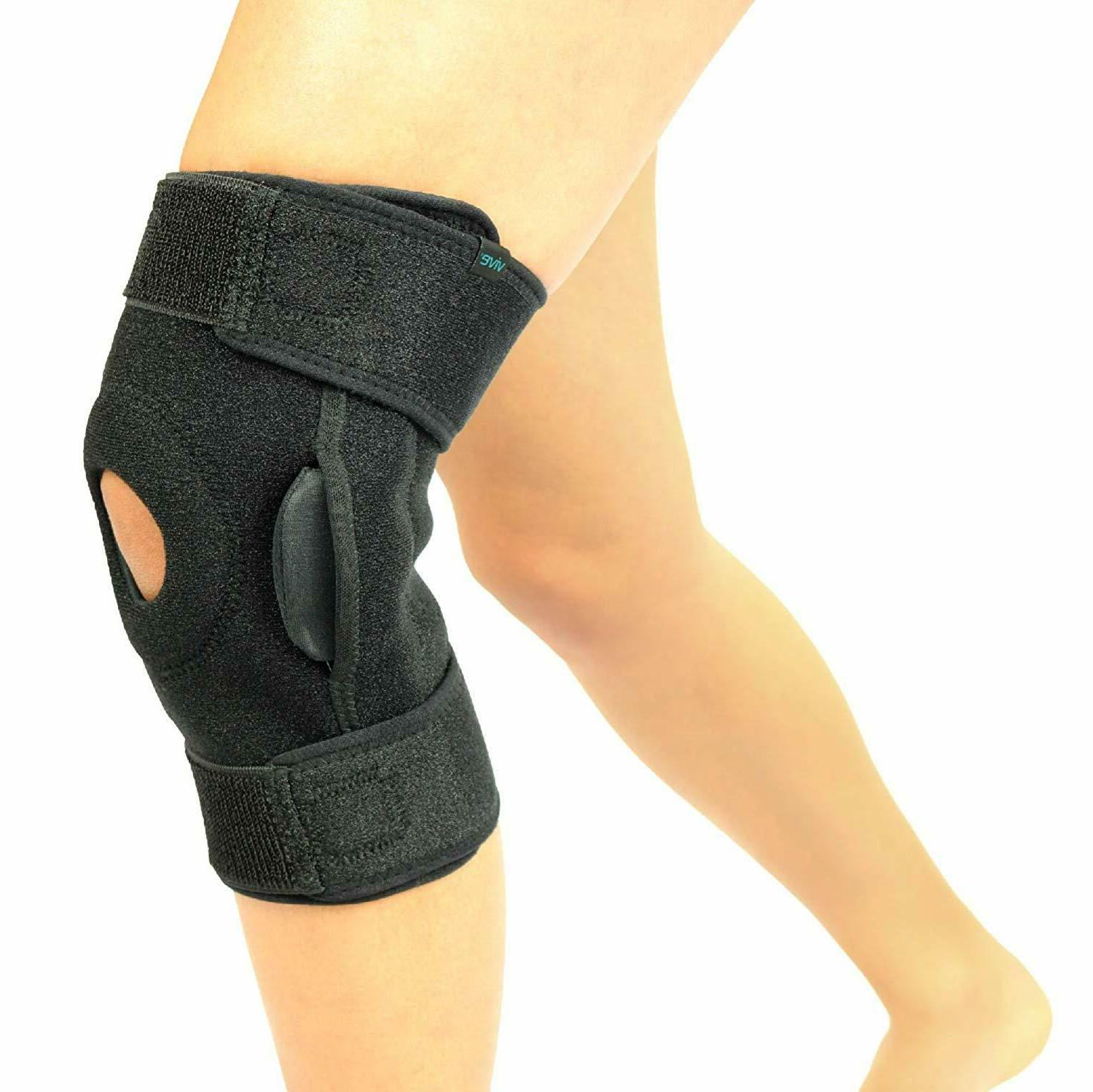 Vive Hinged Knee - Open Patella Support Injuries - for Running
