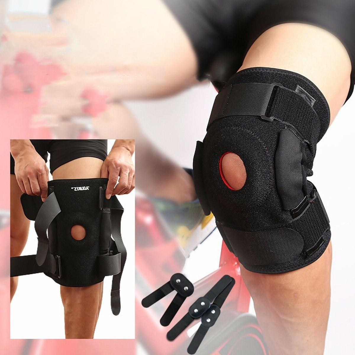 hinged knee brace adjustable open patella support