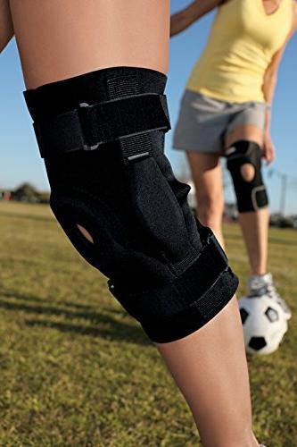 ACE Hinged Knee One Fits Left Right Knee, Adjustable, to Sore and