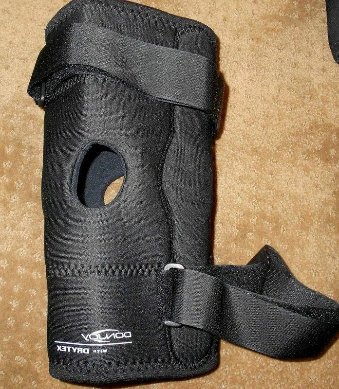 hinged knee brace lateral support drytex size