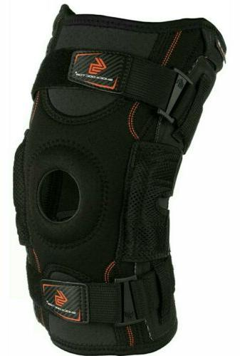 hinged knee brace max support compression knee