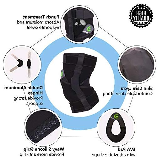 DISUPPO Support Frosted Adjustable Open for Sports Sprains, Arthritis, Meniscus Ligament