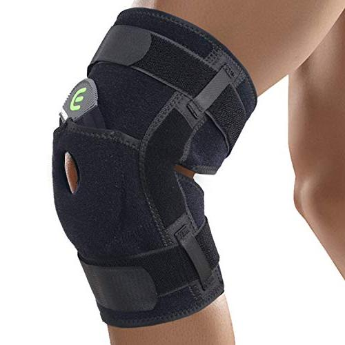hinged knee brace support