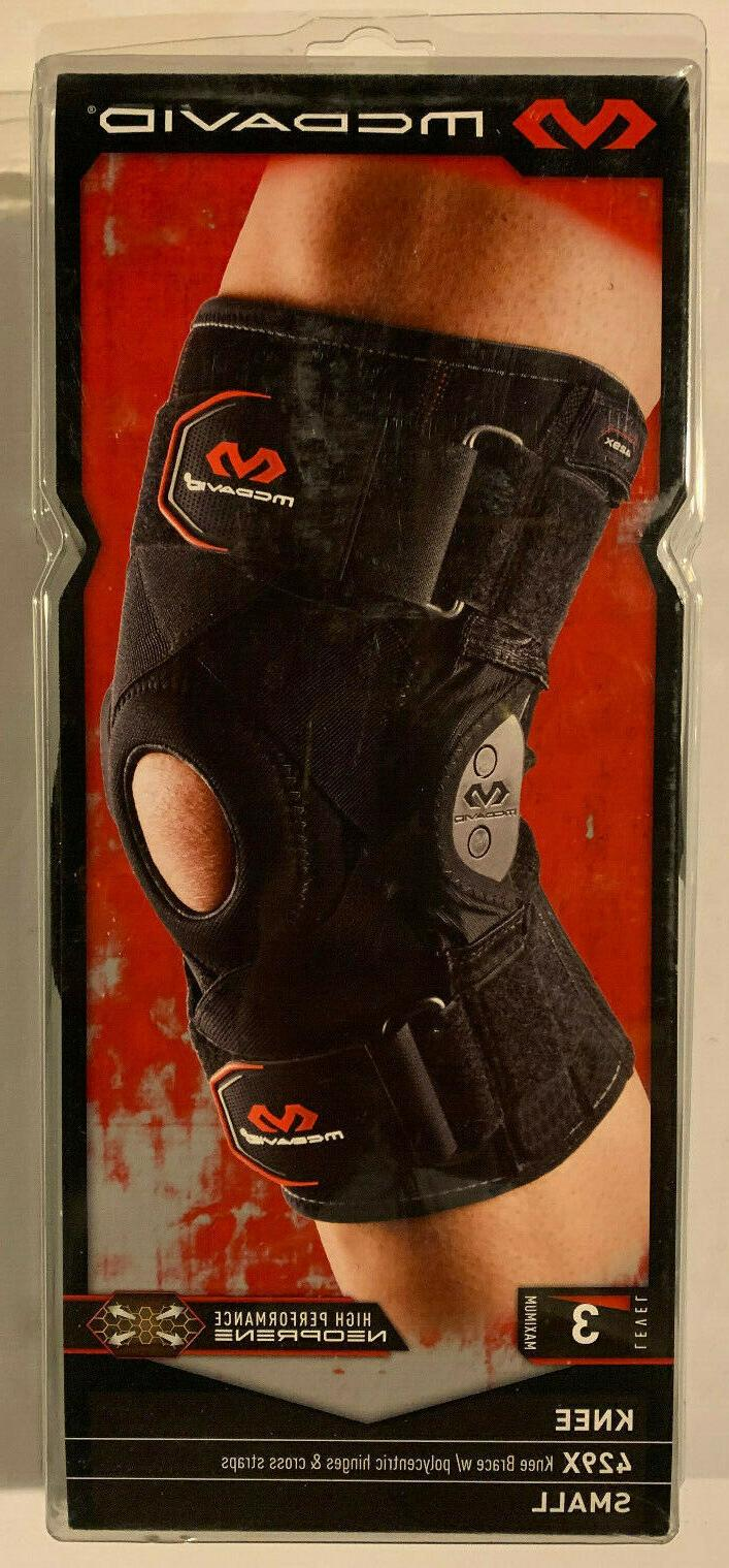 McDavid Hinged Knee Brace w/ Cross Straps Lv3 Protection S 1