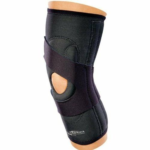 hinged lateral j right knee brace