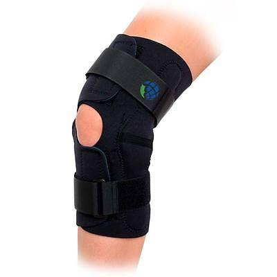 hinged wrap around knee brace support sizes