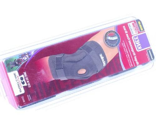 Mueller Hinged Wraparound Knee Brace, Black,