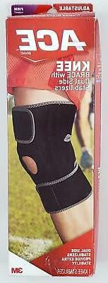 ACE Knee Brace with Dual Side Stabilizers Adjustable Firm Su