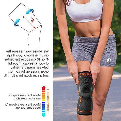 CAMBIVO Brace, Knee Sleeve Support for Running, ACL, Meniscus Joint Relief Injury Recovery