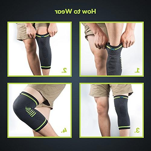 Sleeves FDA Approved, Support Arthritis, ACL, Sports, Pain Meniscus Faster Injury Recovery, Medium