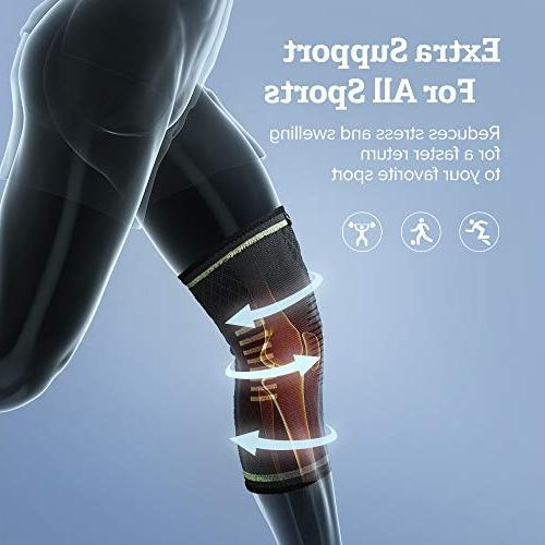Sable Compression Sleeves FDA Approved, ACL, Biking, Basketball Sports, Meniscus Tear, Recovery, Small